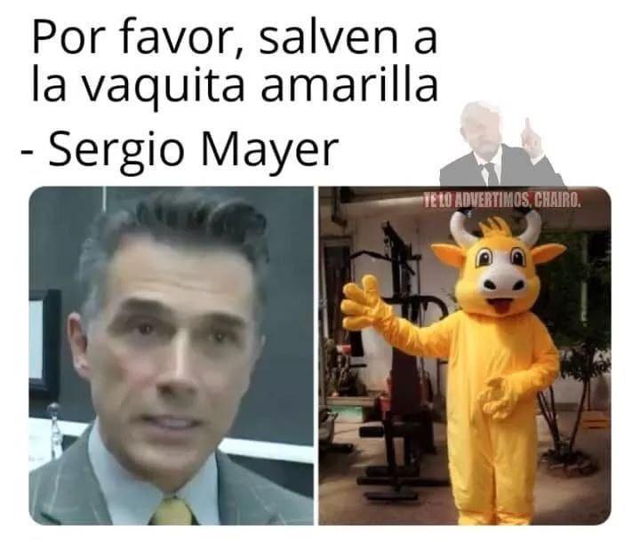 Memes de la vaquita amarilla de sergio mayer