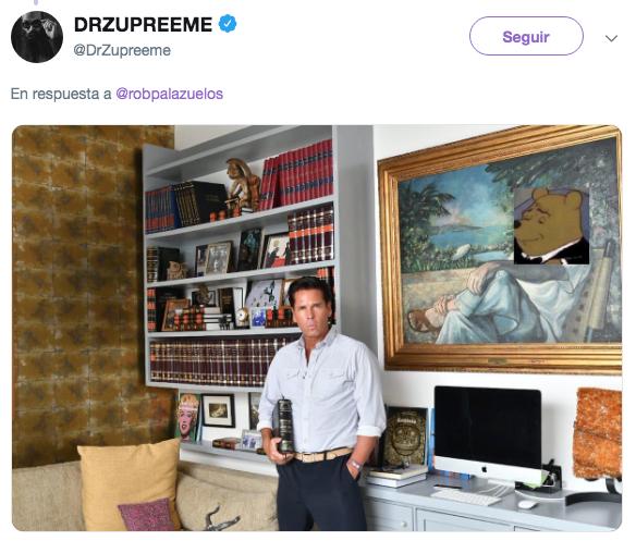 Trollean a Roberto Palazuelos por subir foto con su biblioteca