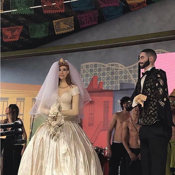 Maluma tuvo boda en Chapultepec, México, con Maire Wink