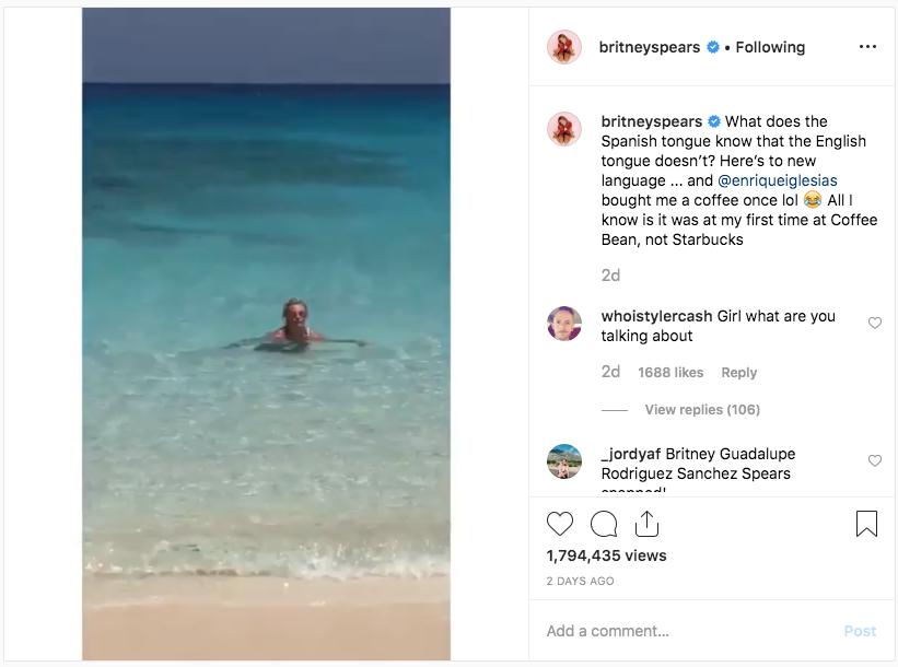Britney Spears escribe mensaje a Enrique Iglesias