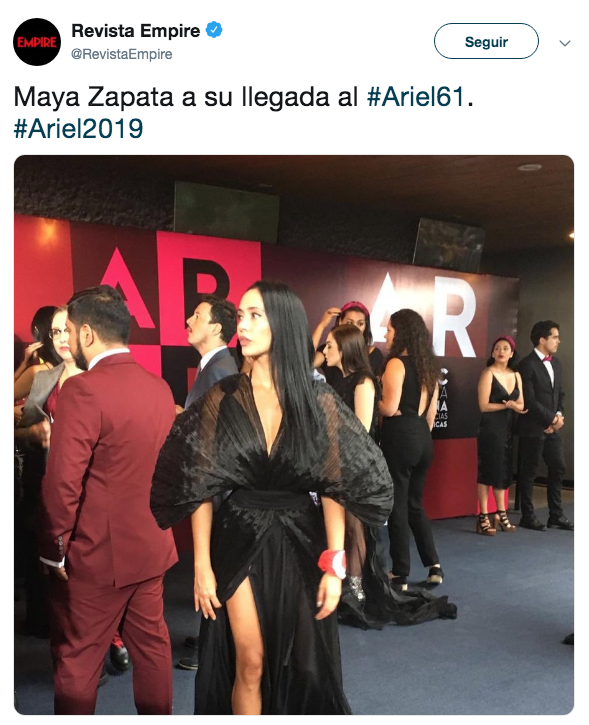 Alfombra Roja premio Ariel 2019