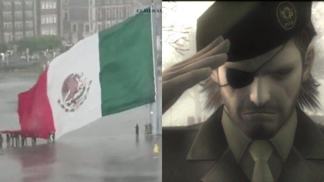 Ciudadanos y militares bajan bandera de México en Zócalo