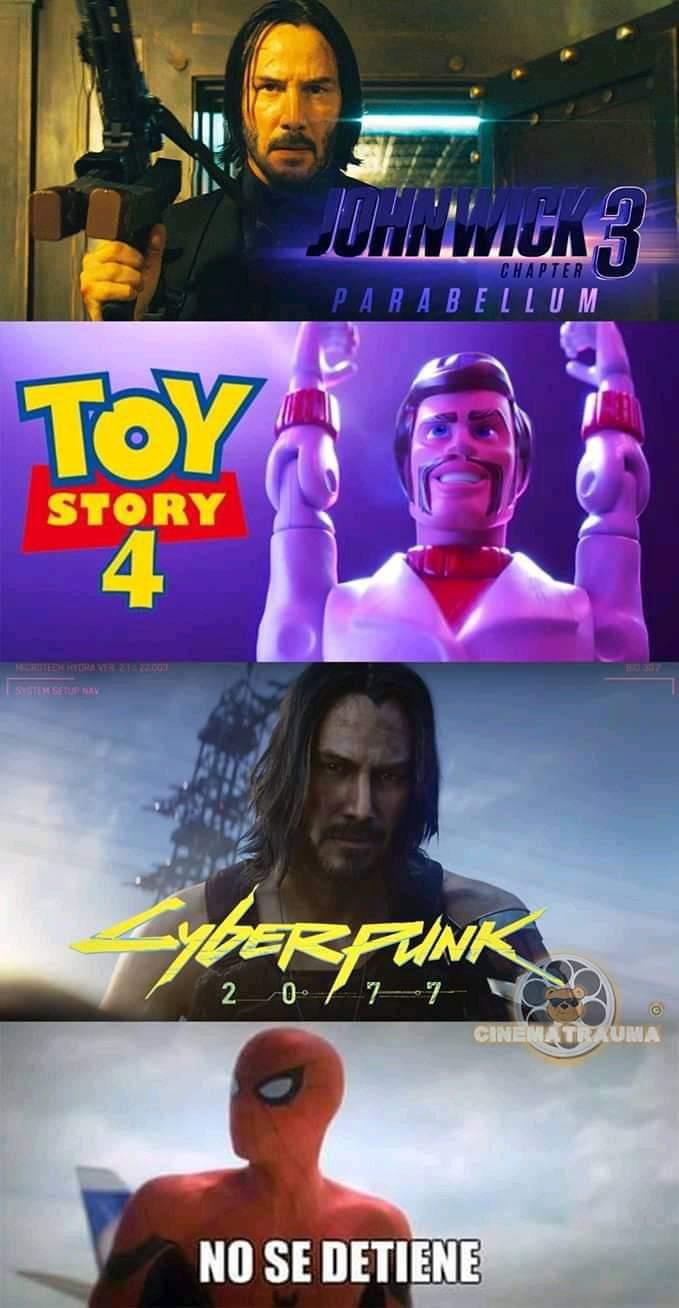 Memes de Keanu Reeves en Cyberpunk 2077