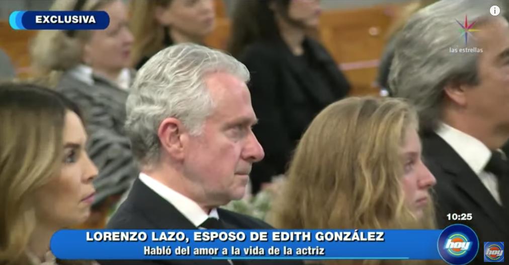 Así se mostró la hija de Edith González durante el funeral de su madre