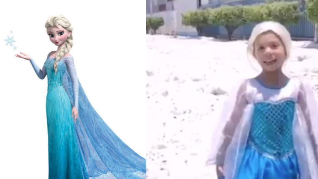 Niña Frozen Guadalajara, Niña Frozen Granizo Guadalajara, Niña Frozen Fotos Guadalajara, Niña Frozen Se viste como Elsa, Niña Frozen, Se viste como Elsa de Frozen