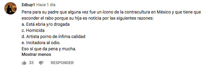 Celia Lora Homofóbica
