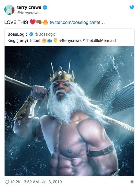 Terry Crews manifiesta interés por interpretar a papá de Ariel de la Sirenita