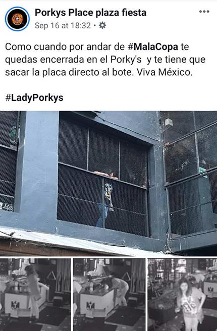 Foto:porkys publicación. 22 septiembre 2019