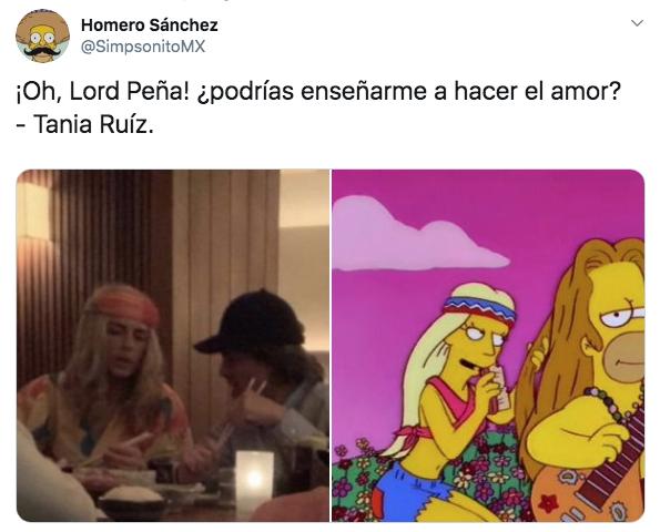 Captan a Peña Nieto y Tania Ruiz disfrazados en cena romántica en Nueva York