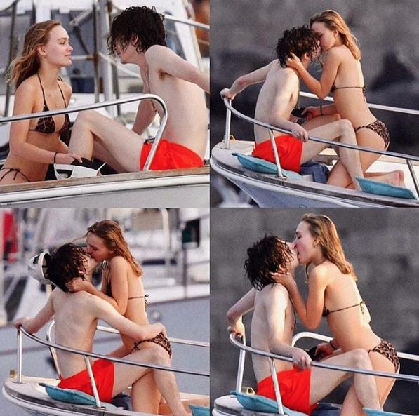 Captan a Timothée Chalamet y Lilly Rose Depp en apasionado encuentro en Italia