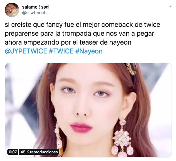 TWICE lanza teaser de su comeback con Nayeon para Feel Special