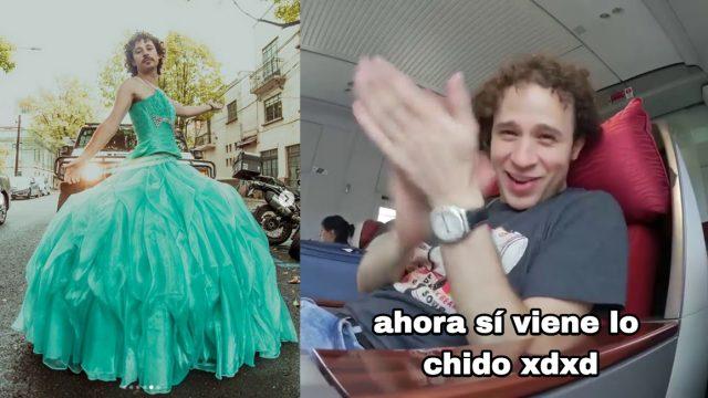 Luisito Comunica celebra en Instagram vestido de quinceañera